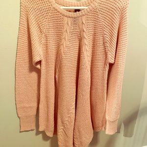 NWT M Cable Pullover Sweater Blush Agnes and Dora